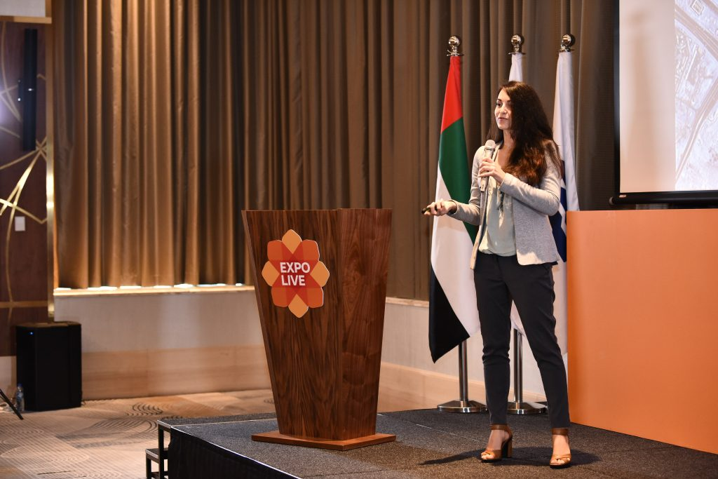 Humans in the Loop CEO and founder Iva Gumnishka pitch at Expo Live Dubai UAE