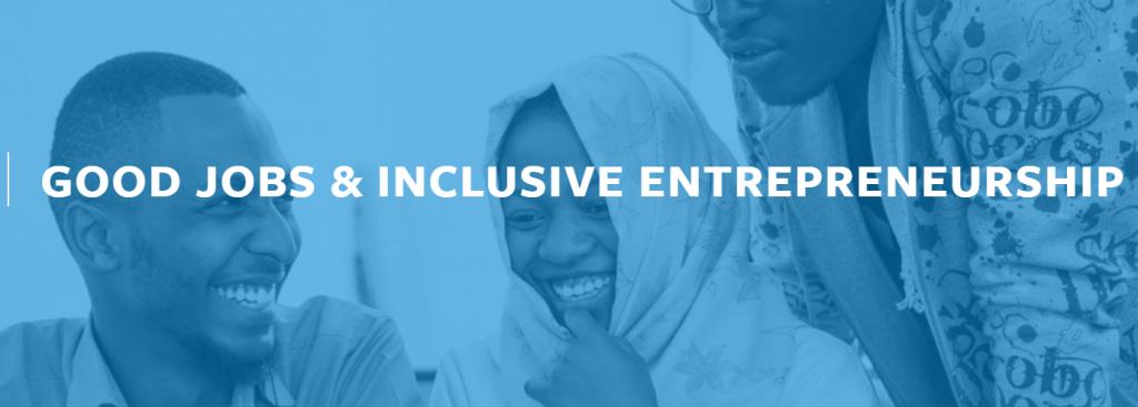 Good Jobs and Inclusive Entrepreneurship banner