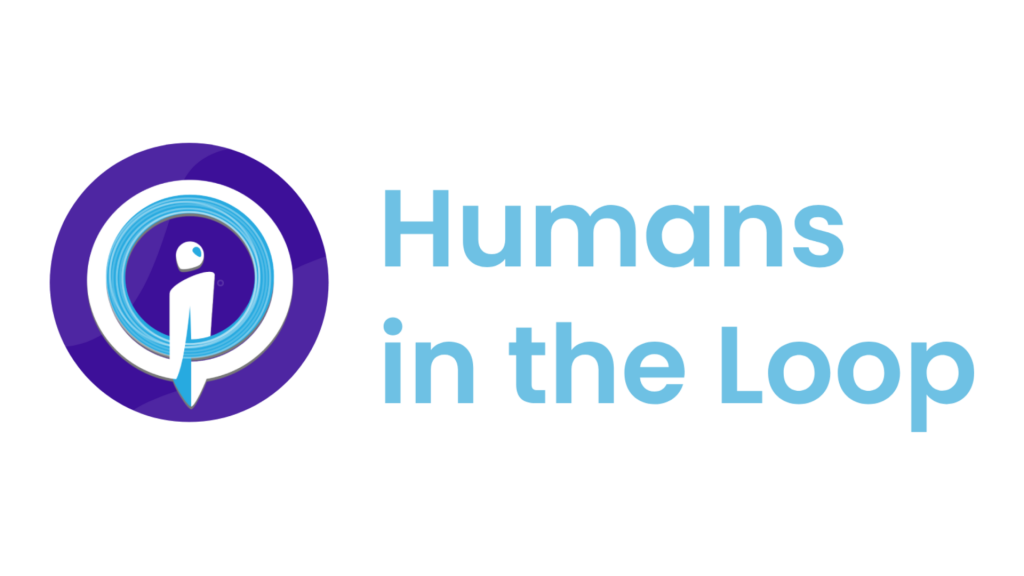 Humans in the Loop Logo in color with text