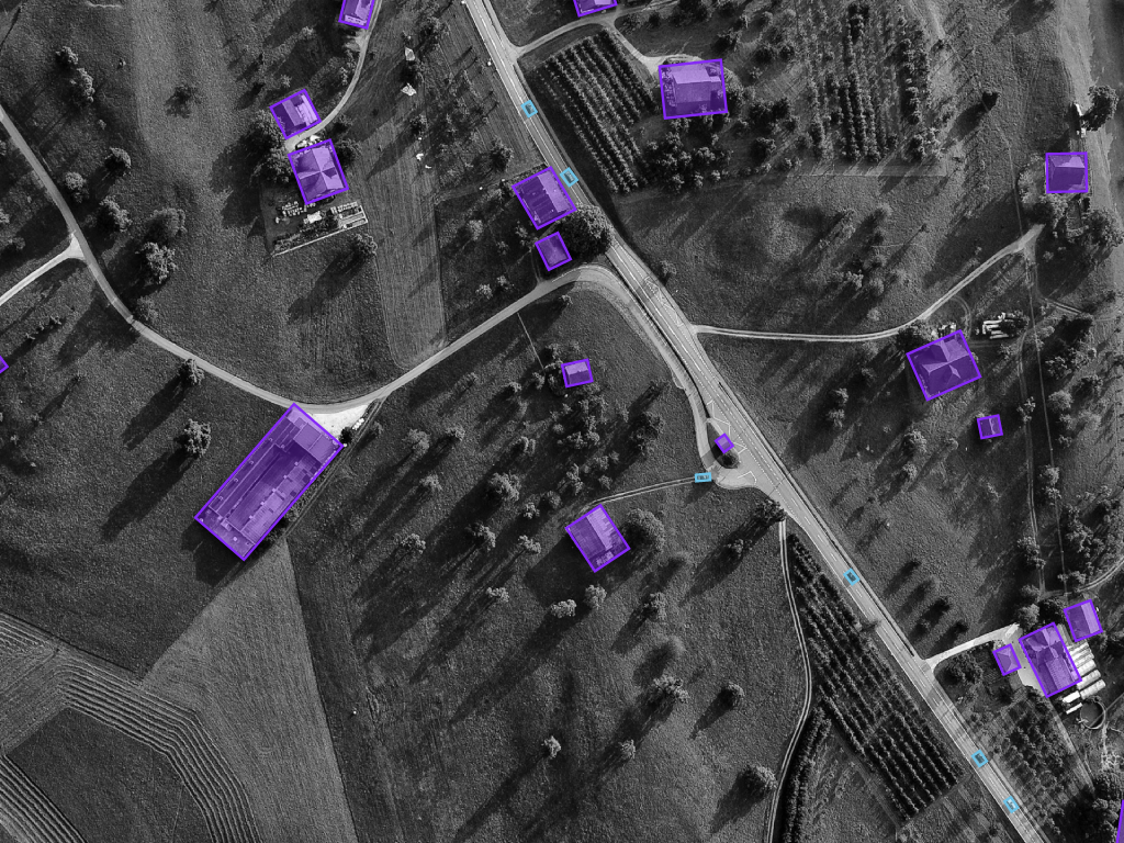 Aerial inspection post-labeling example