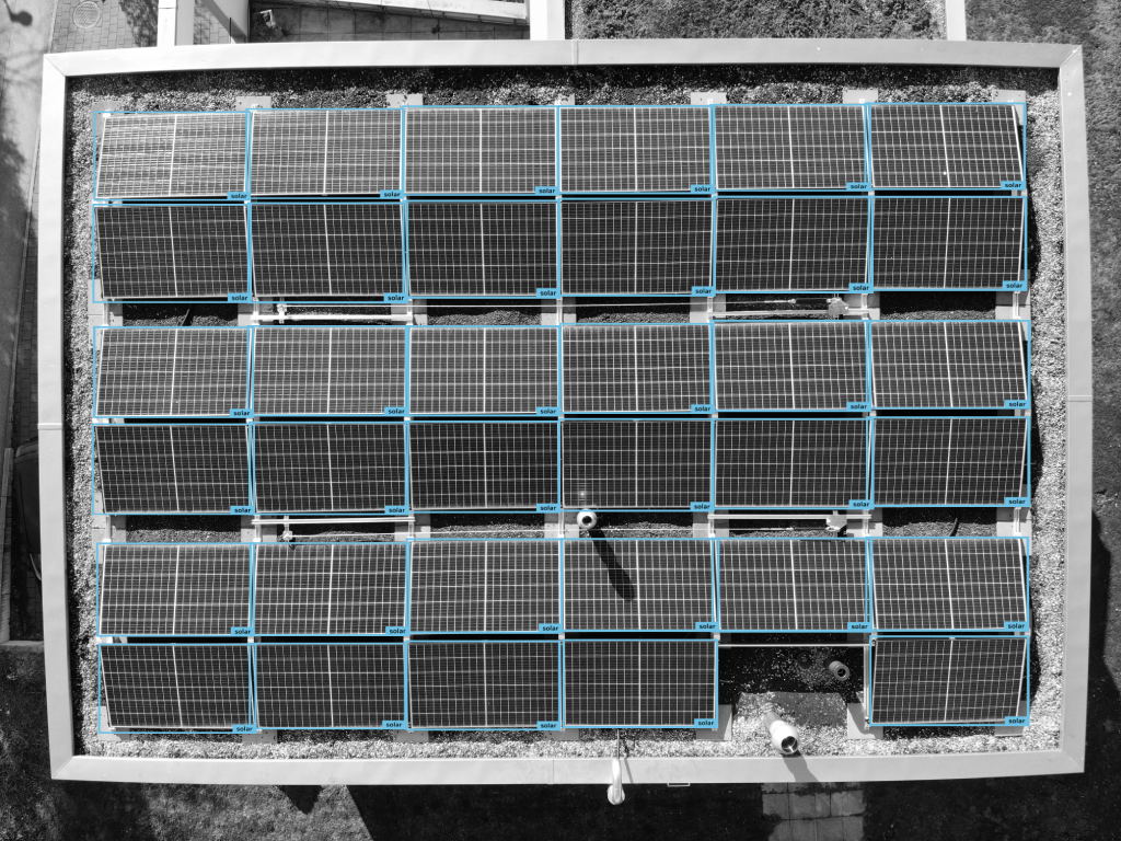 Solar panels post-labeling example