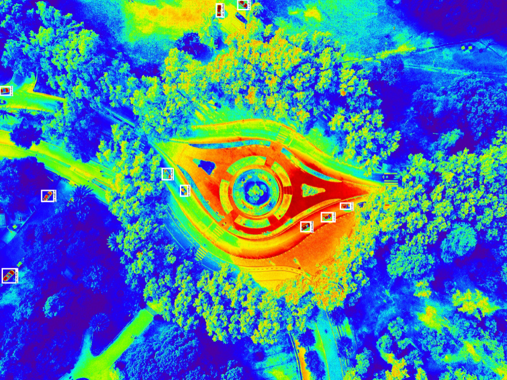 infrared post-labeling example