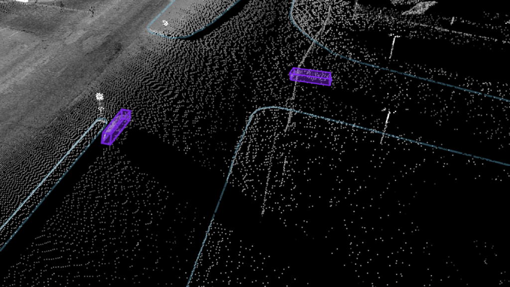 aerial Street 3d post labeling example